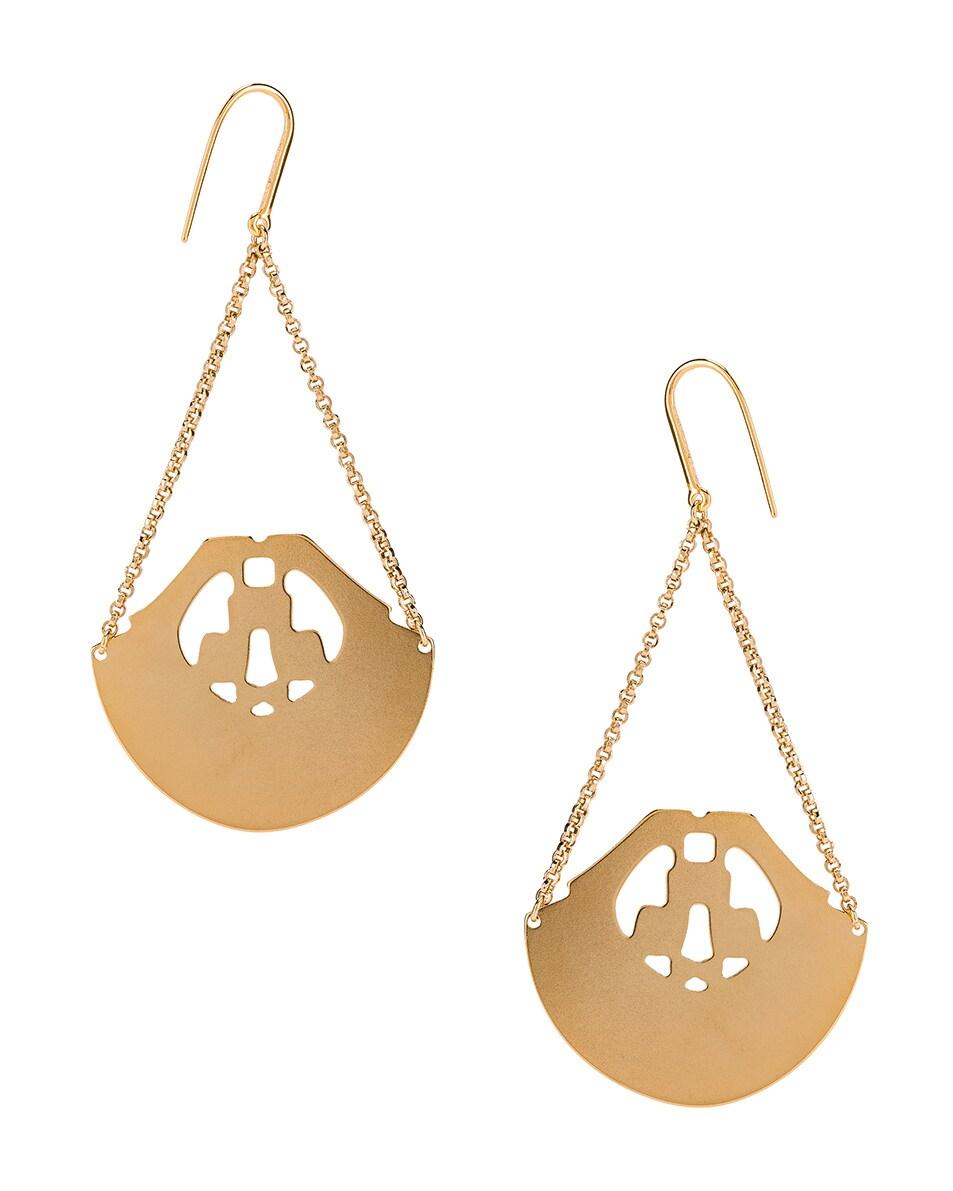 Image 4 of Isabel Marant Stone Chandelier Earrings in Fuchsia