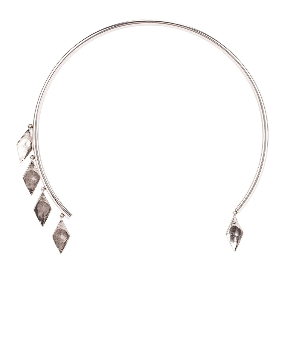 Image 1 of Isabel Marant Geometric Dangle Choker in Silver