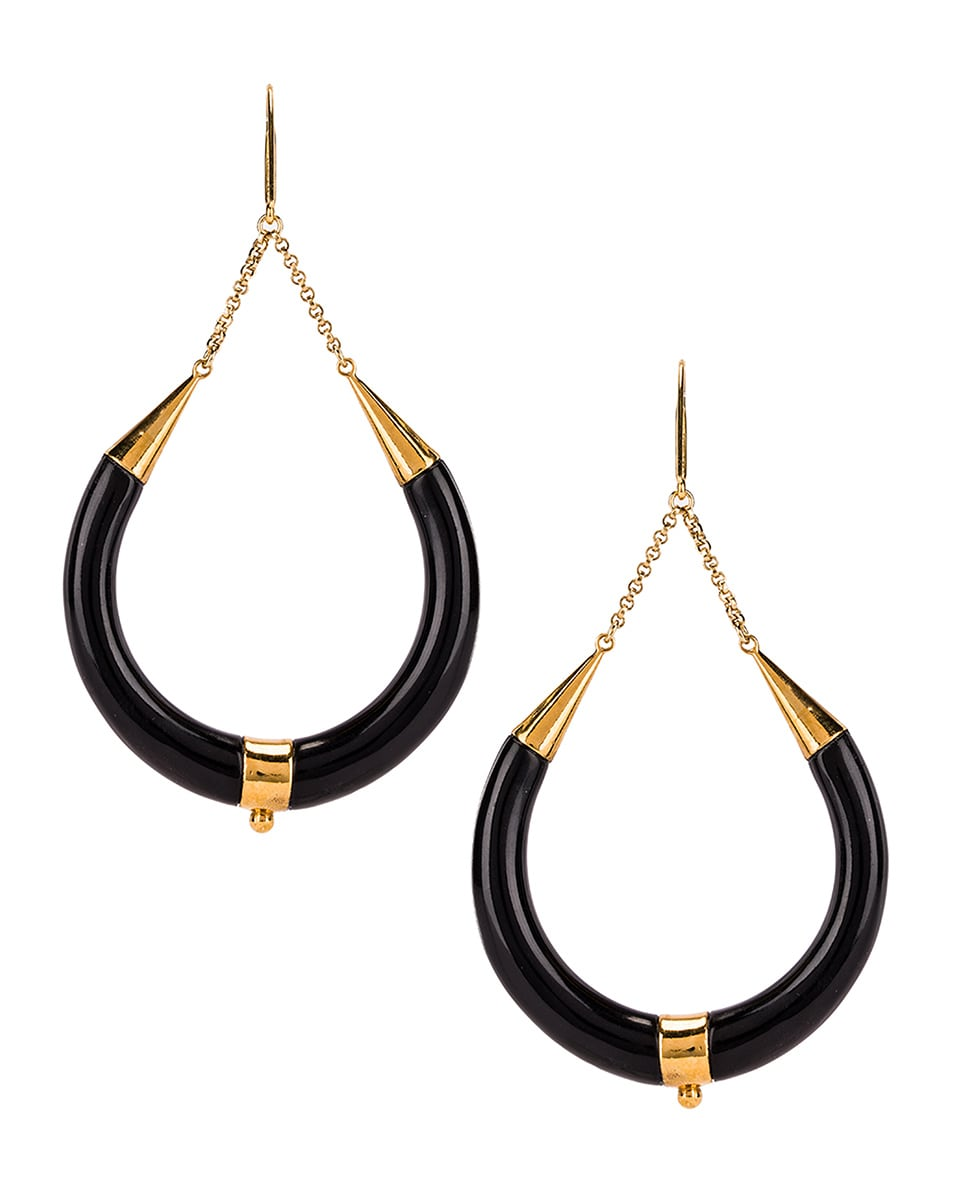 Image 4 of Isabel Marant Drop Hoop Earrings in Black