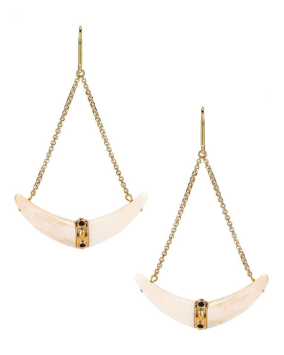 Image 1 of Isabel Marant Swing Earrings in Ecru