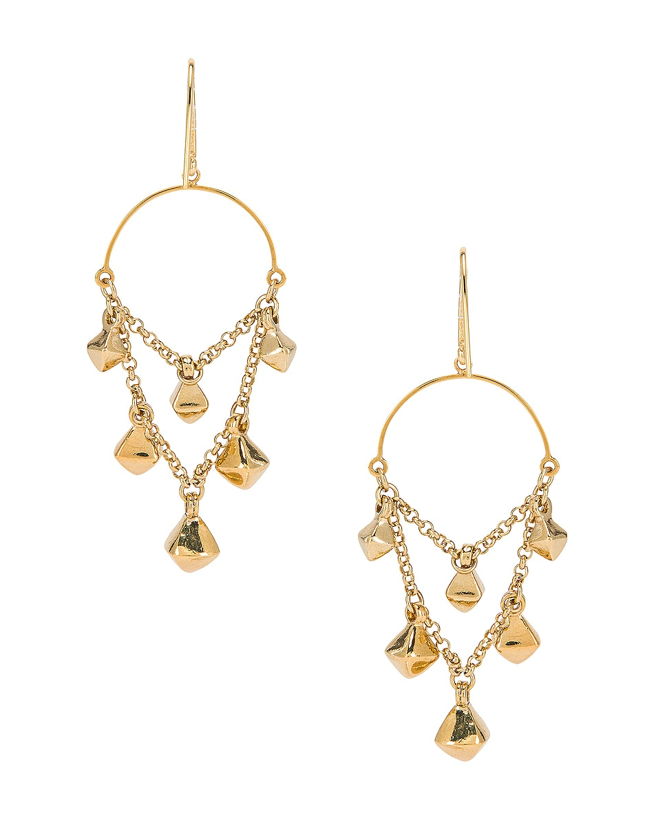 Image 4 of Isabel Marant Tanganyika Chandelier Earrings in Dore
