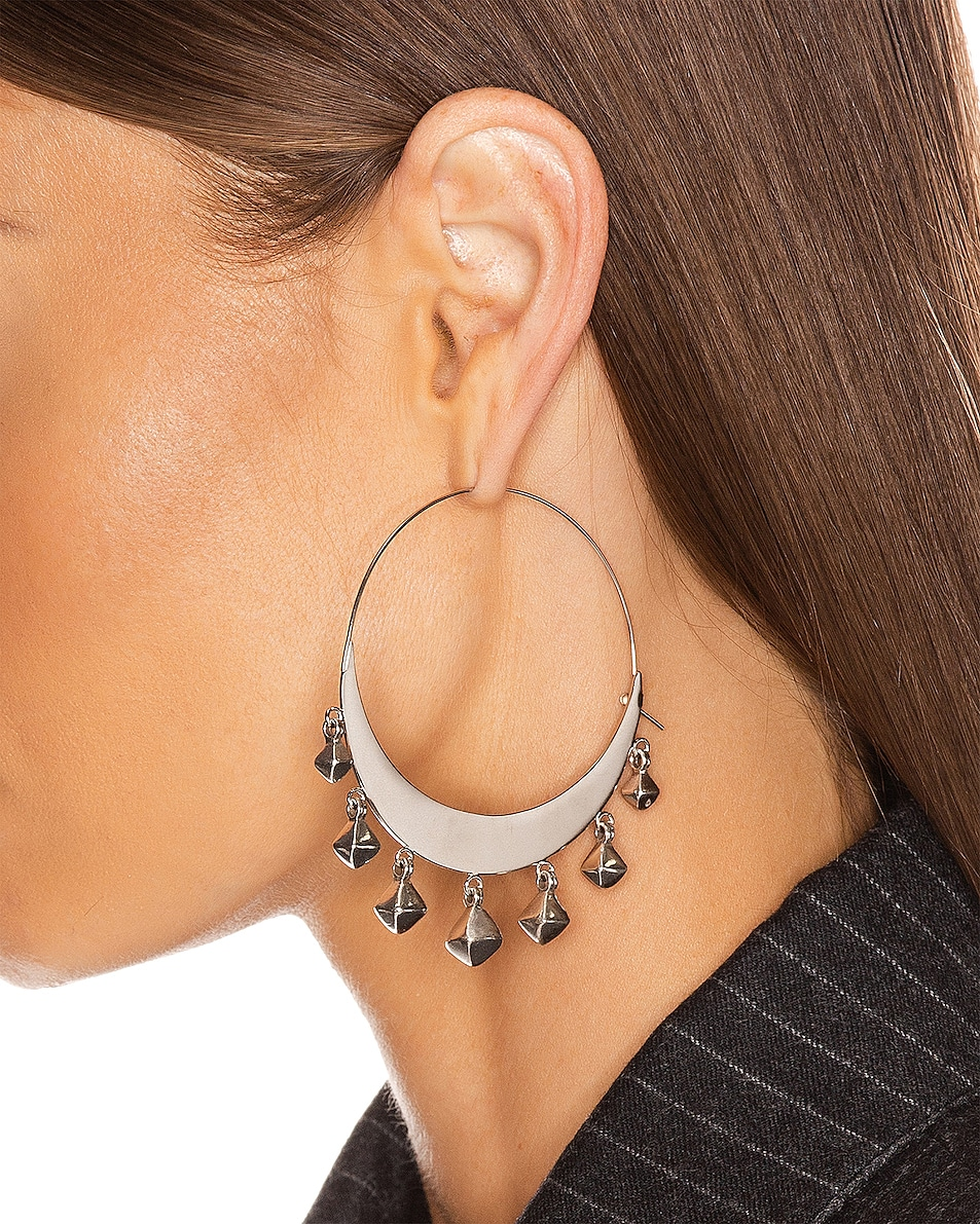 Image 2 of Isabel Marant Tanganyika Hoop Earrings in Silver