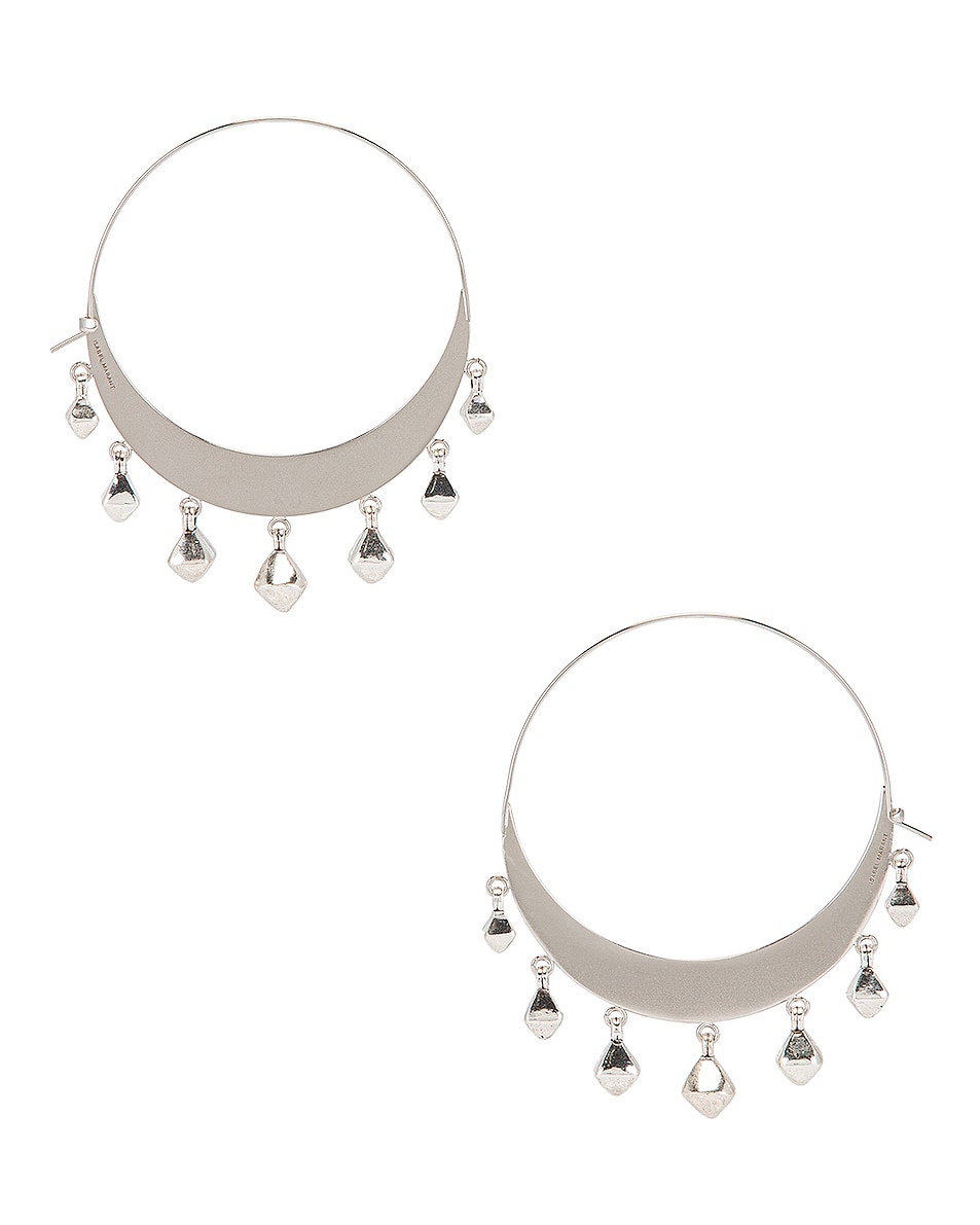 Image 4 of Isabel Marant Tanganyika Hoop Earrings in Silver