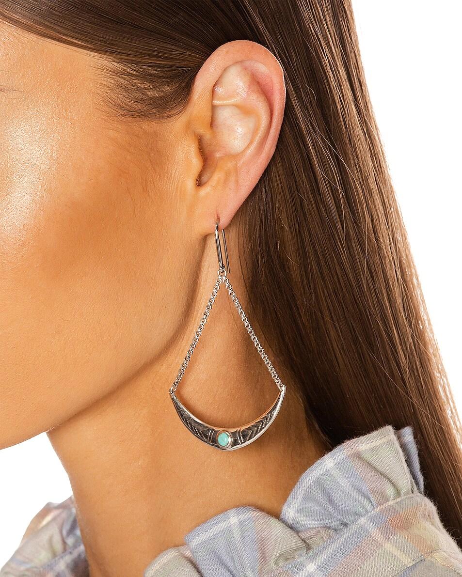 Image 2 of Isabel Marant Mzuzu Earrings in Blue & Silver