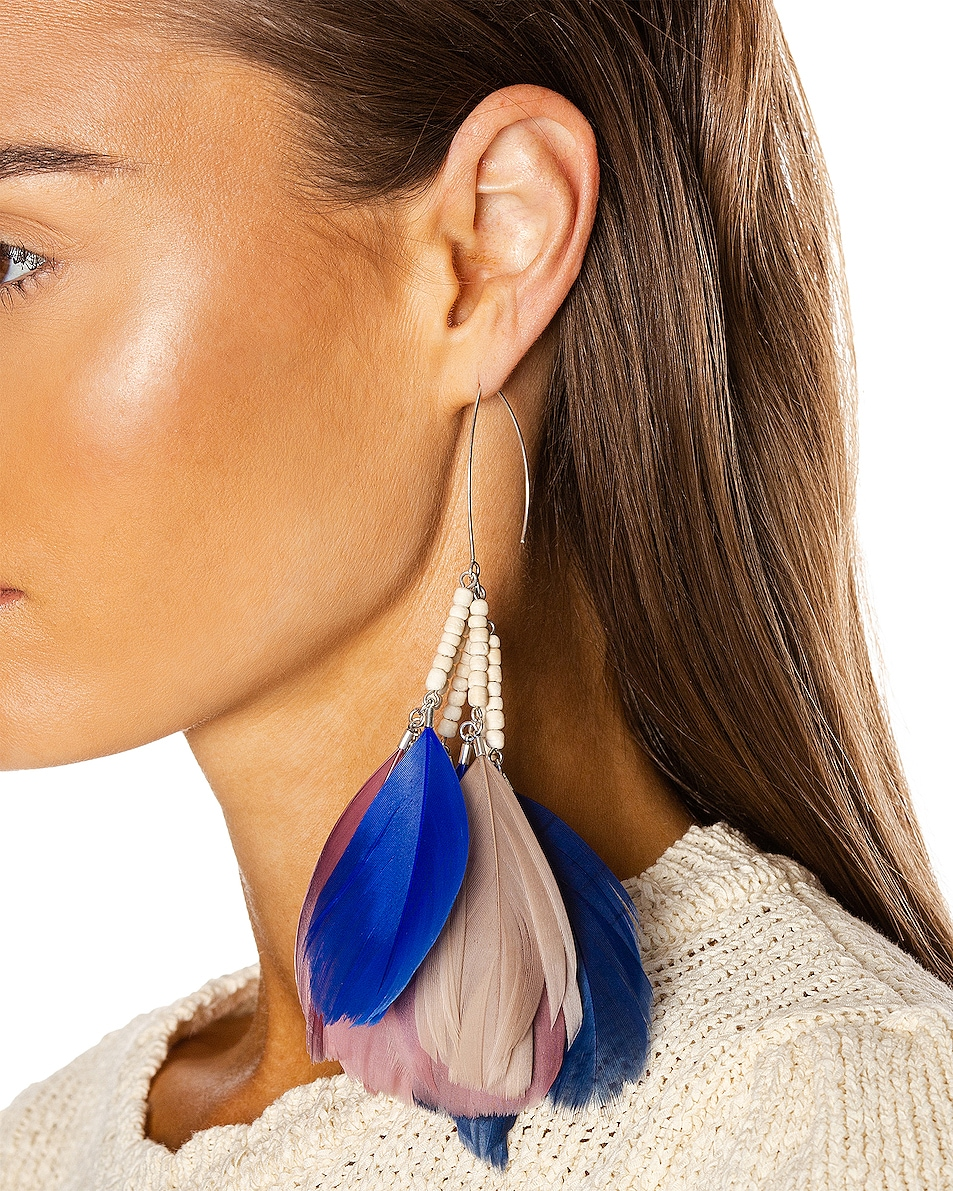 Image 2 of Isabel Marant Boucle Oreille Earrings in Rosewood
