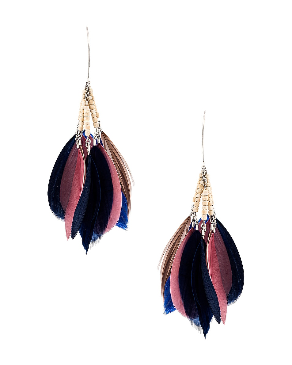 Image 4 of Isabel Marant Boucle Oreille Earrings in Rosewood