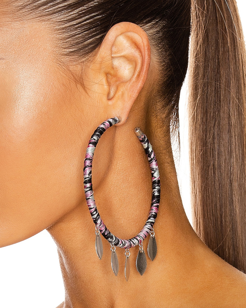 Image 2 of Isabel Marant Boucle Oreille Earrings in Faded Night