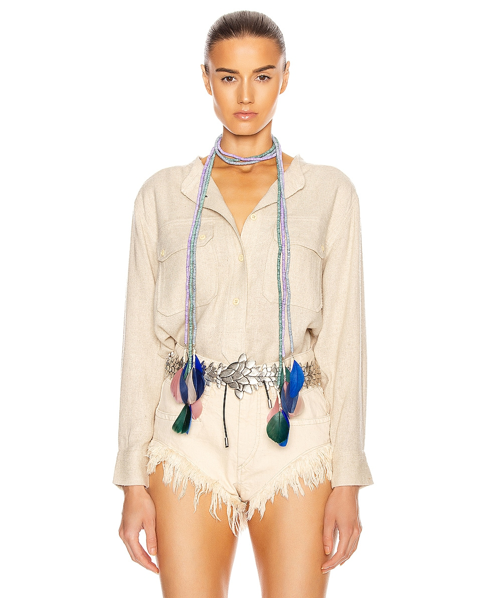 Image 2 of Isabel Marant Echarpe Necklace in Lilac
