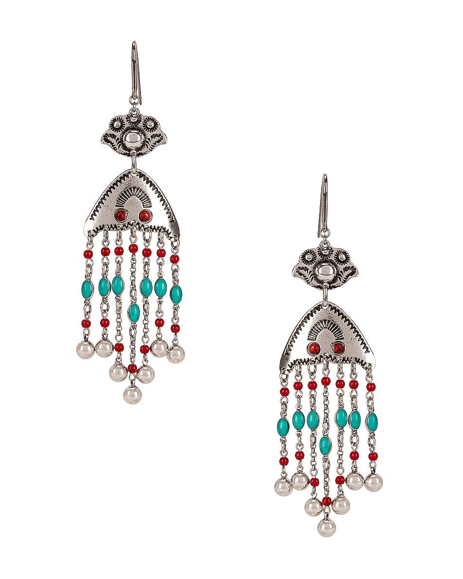 Image 1 of Isabel Marant Besame Chandelier Earrings in Peach