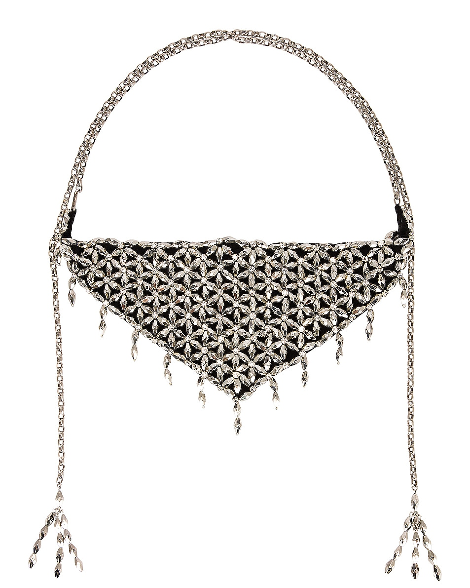 Image 1 of Isabel Marant Light Scarf Necklace in Black & Silver