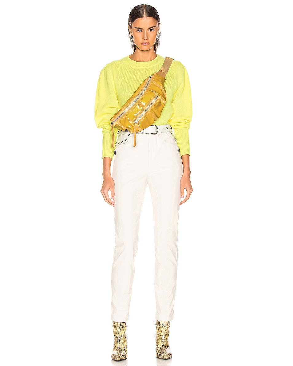 Image 2 of Isabel Marant Noomi Fanny Pack in Yellow