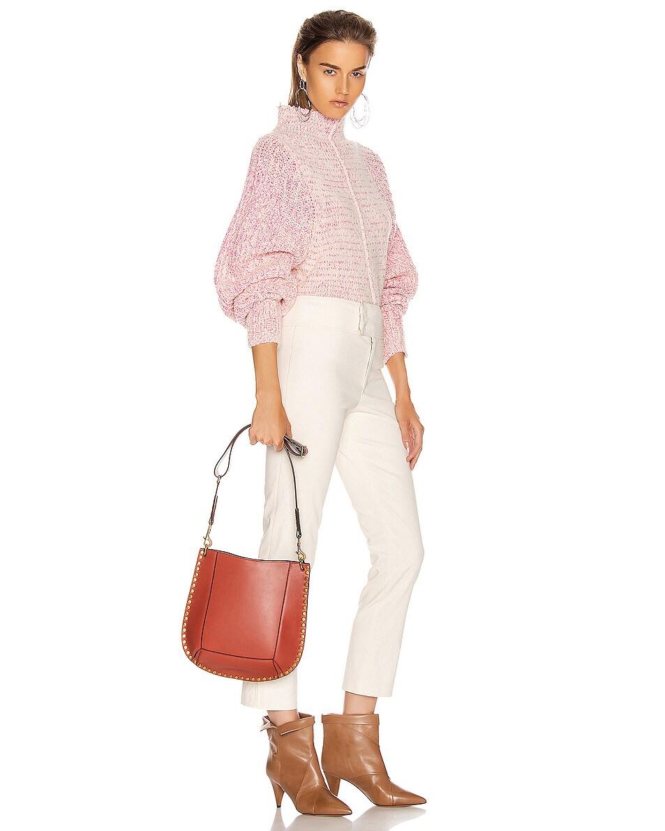 Image 2 of Isabel Marant Oskan Shoulder Bag in Rosewood