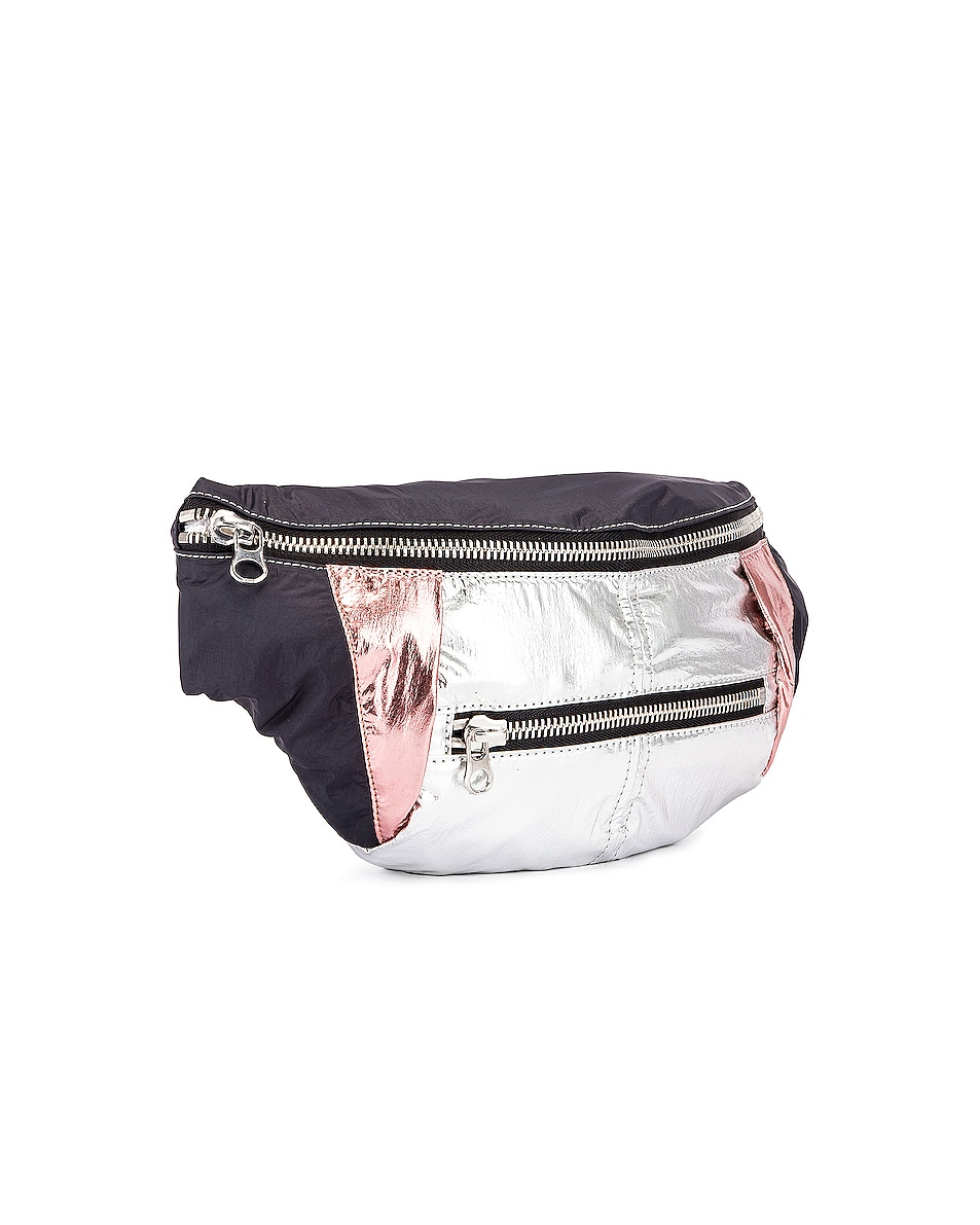 Image 4 of Isabel Marant Noomi Fanny Pack in Faded Black
