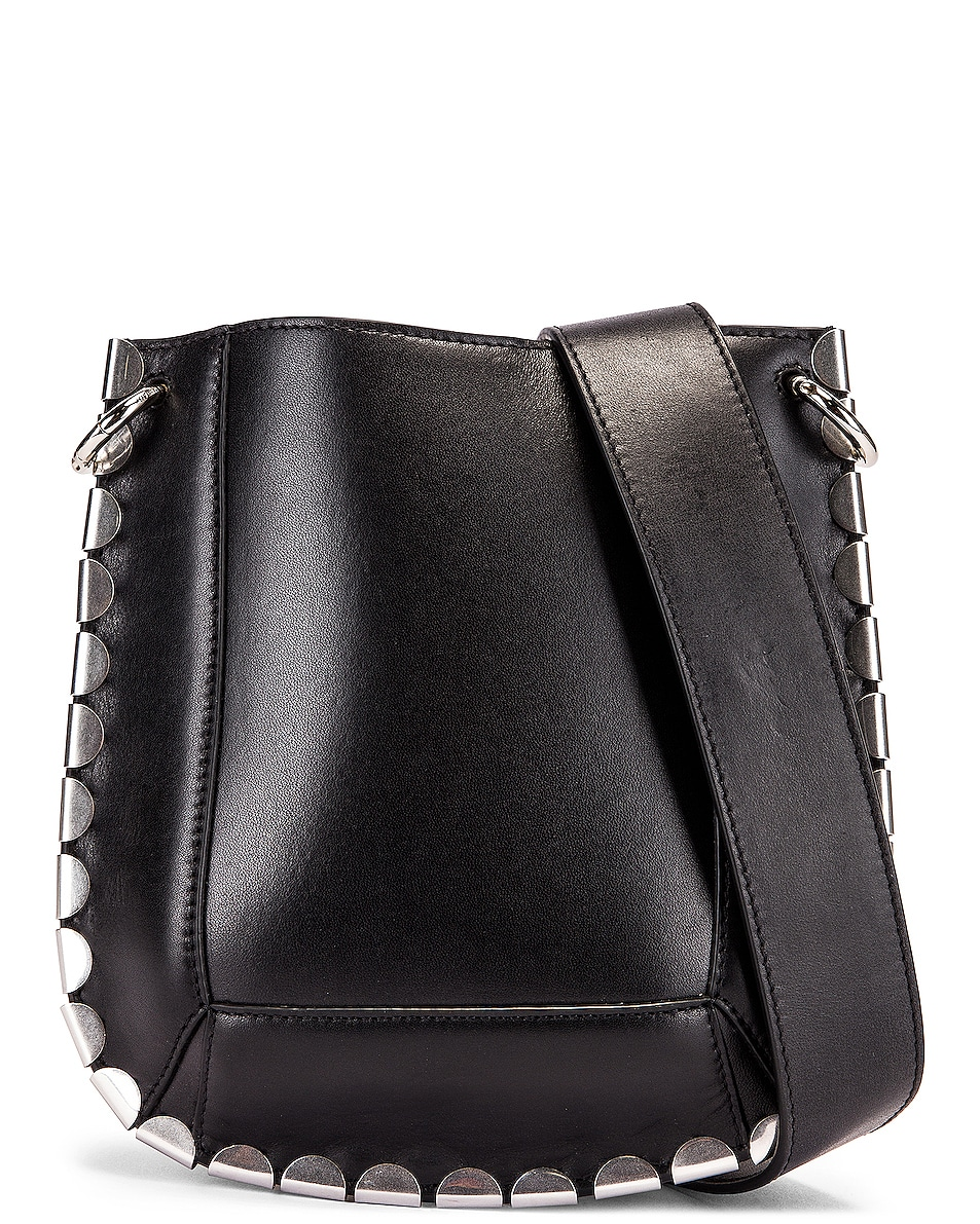 Image 1 of Isabel Marant Nasko Shoulder Bag in Black & Silver
