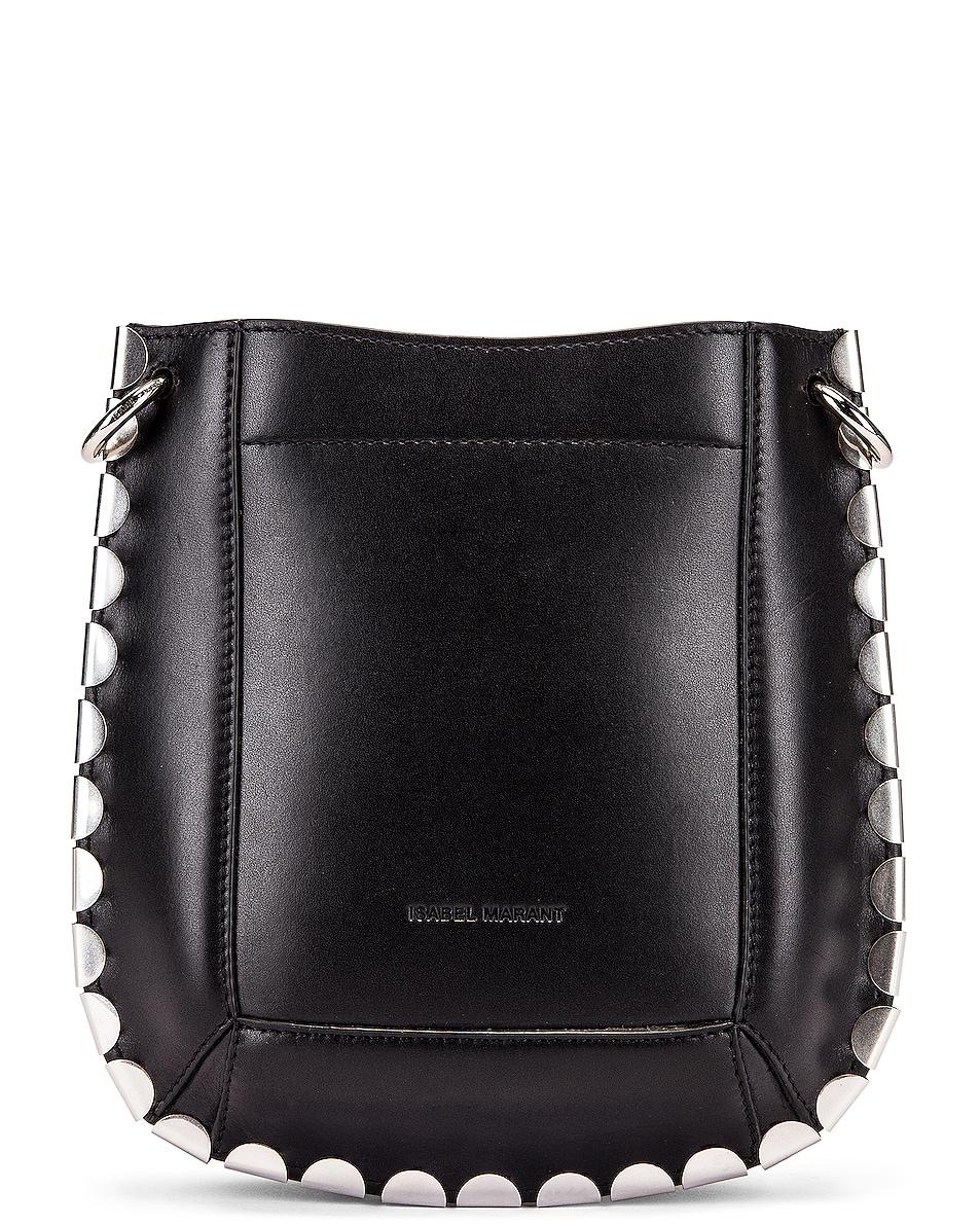 Image 2 of Isabel Marant Nasko Shoulder Bag in Black & Silver