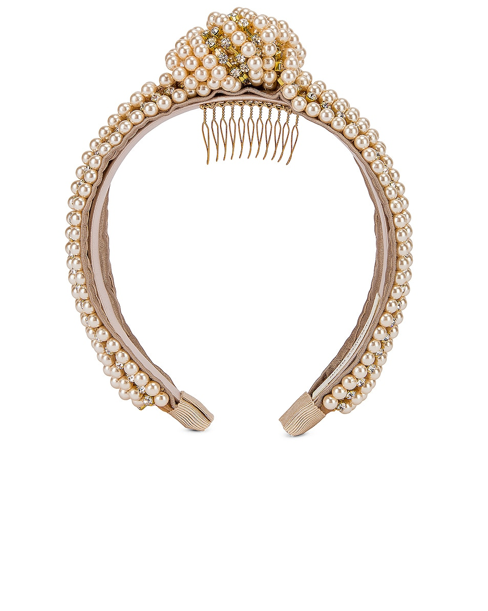 Image 1 of Jennifer Behr Sirene Headband in Pearl