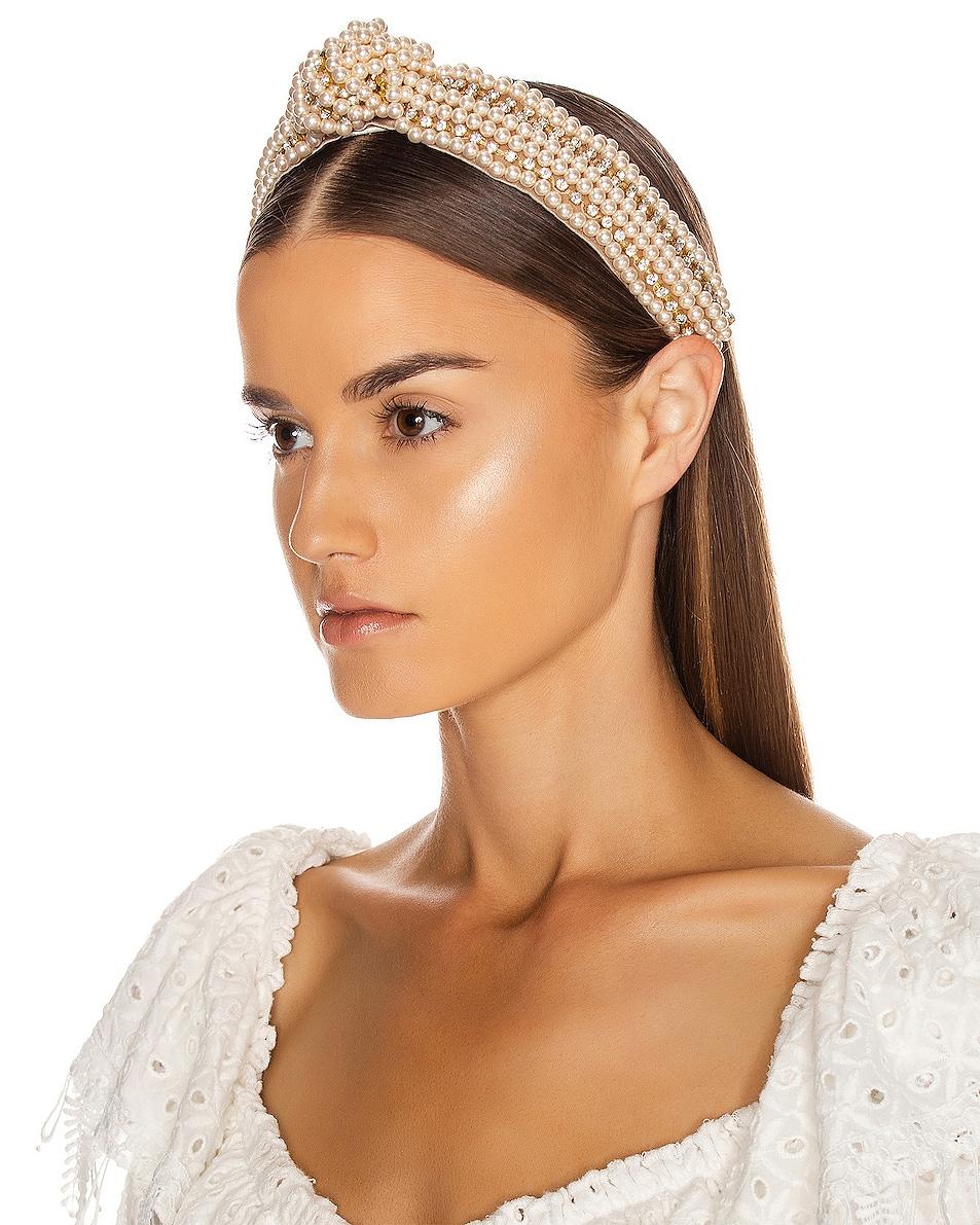 Image 2 of Jennifer Behr Sirene Headband in Pearl