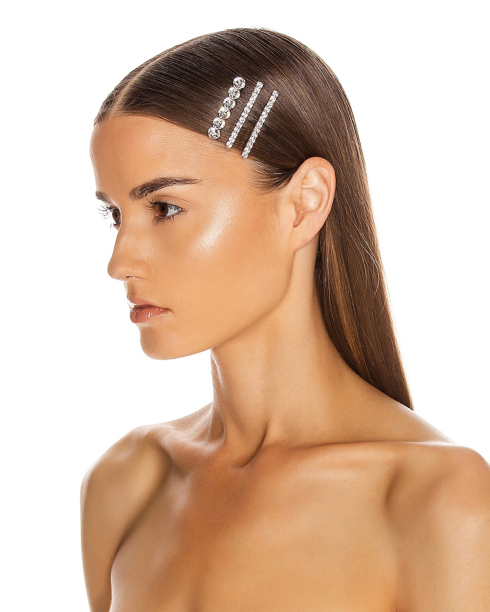 Image 2 of Jennifer Behr Gabrielle Bobby Pin Set in Crystal