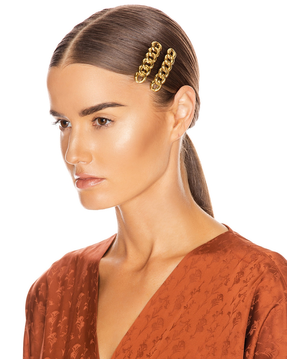 Image 2 of Jennifer Behr Didi Bobby Pins in Gold