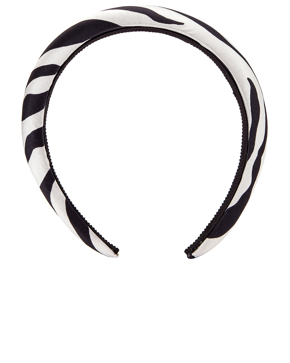 Image 1 of Jennifer Behr Tori Printed Headband in Zebra