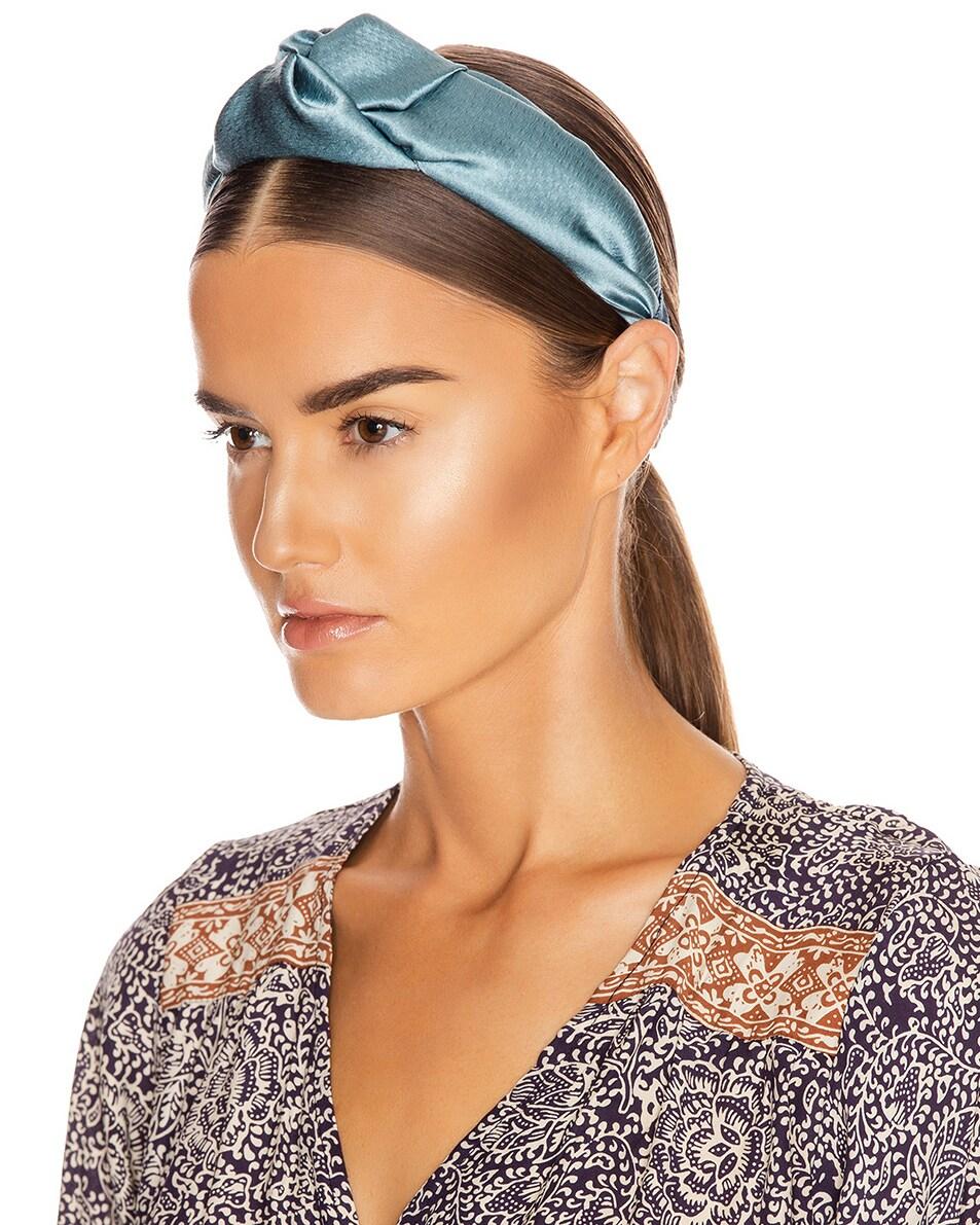 Image 2 of Jennifer Behr Samaya Headband in Azul