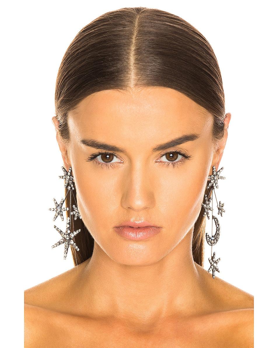 Image 2 of Jennifer Behr Andromeda Earrings in Crystal Gunmetal