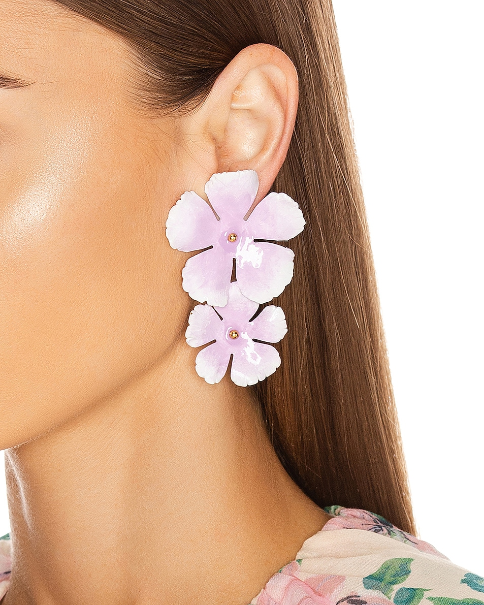 Image 2 of Jennifer Behr Faye Earrings in Lilac