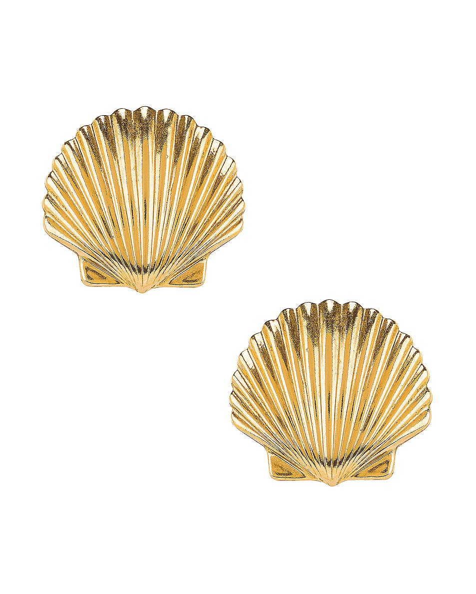 Image 1 of Jennifer Behr Madeleine Shell Earrings in Gold