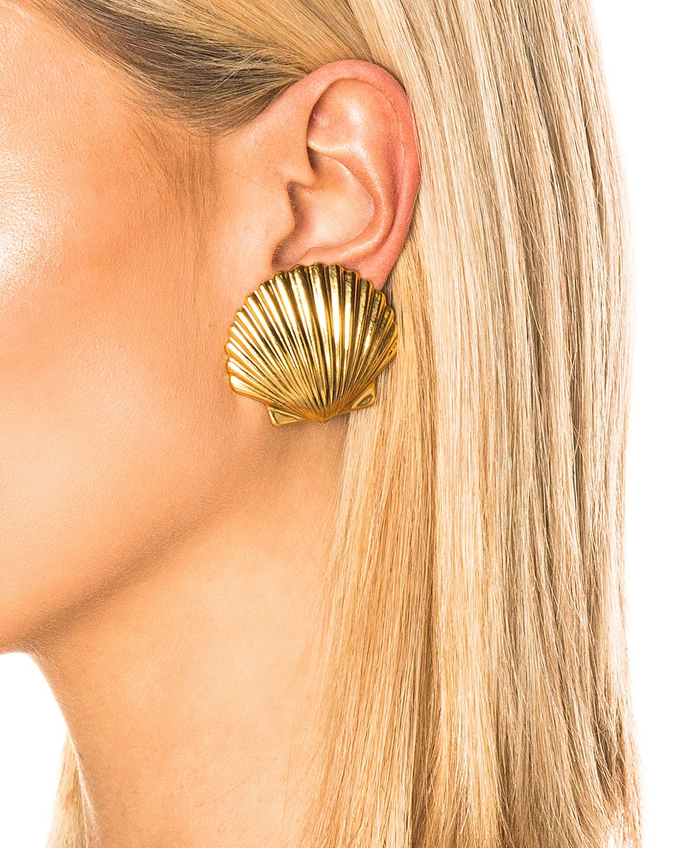 Image 2 of Jennifer Behr Madeleine Shell Earrings in Gold