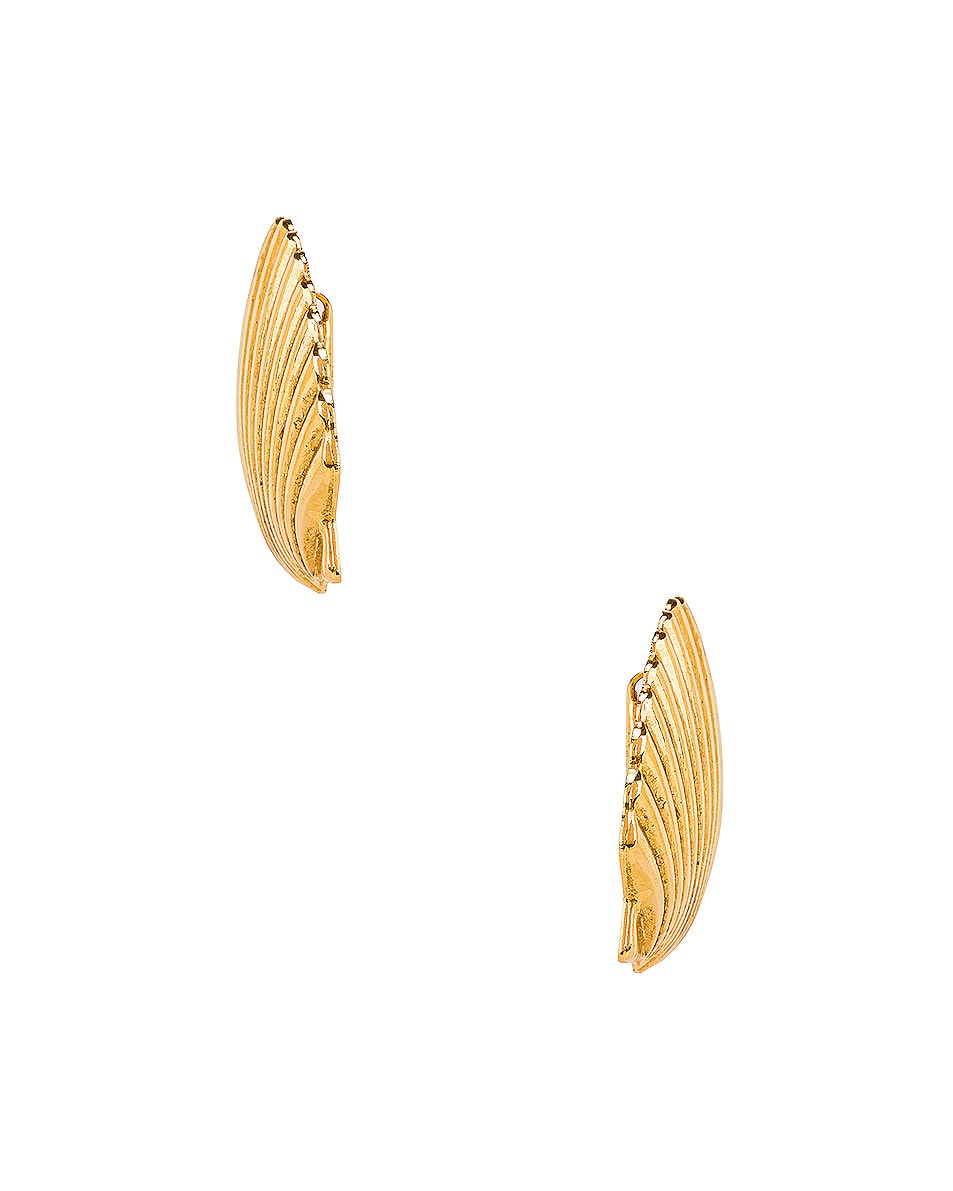 Image 3 of Jennifer Behr Madeleine Shell Earrings in Gold