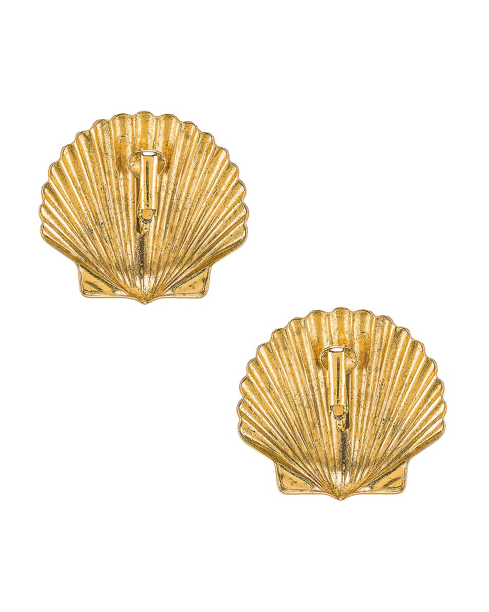 Image 4 of Jennifer Behr Madeleine Shell Earrings in Gold