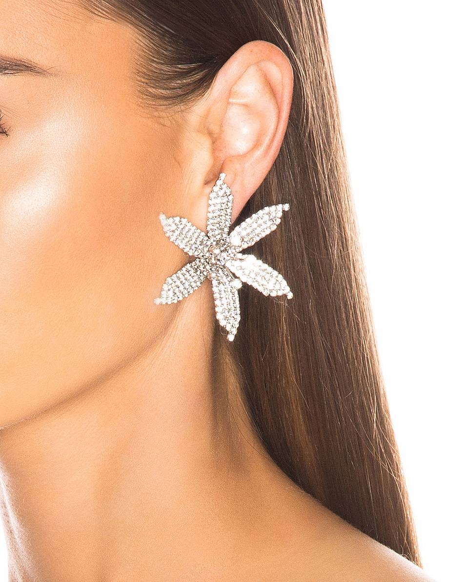Image 2 of Jennifer Behr Laelia Earrings in Crystal