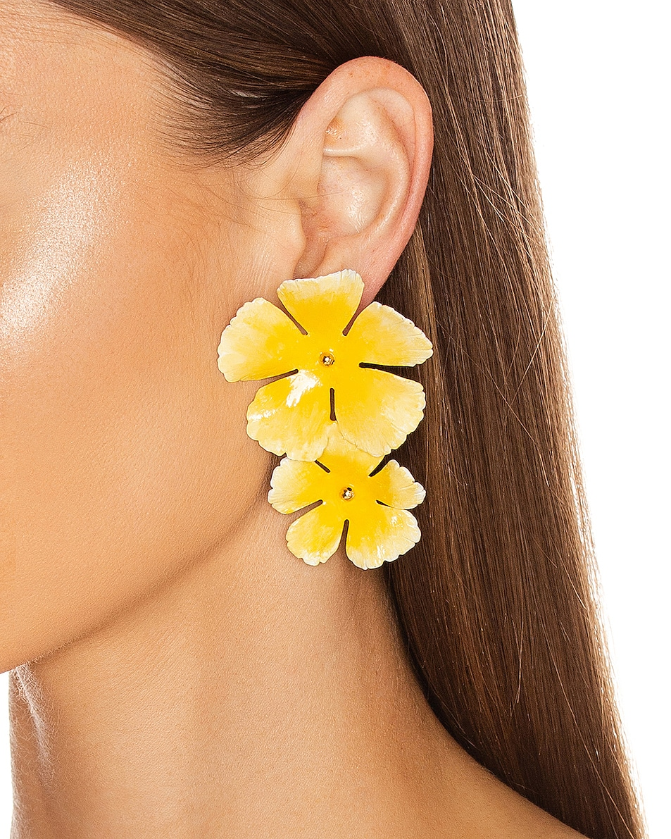 Image 2 of Jennifer Behr Faye Earrings in Buttercup