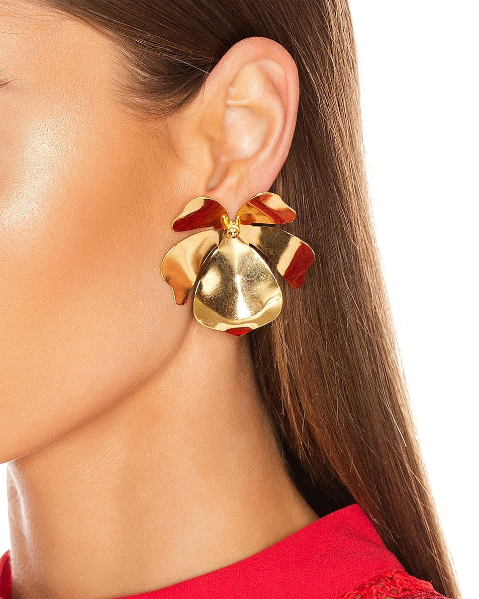 Image 2 of Jennifer Behr Mykah Earrings in Gold