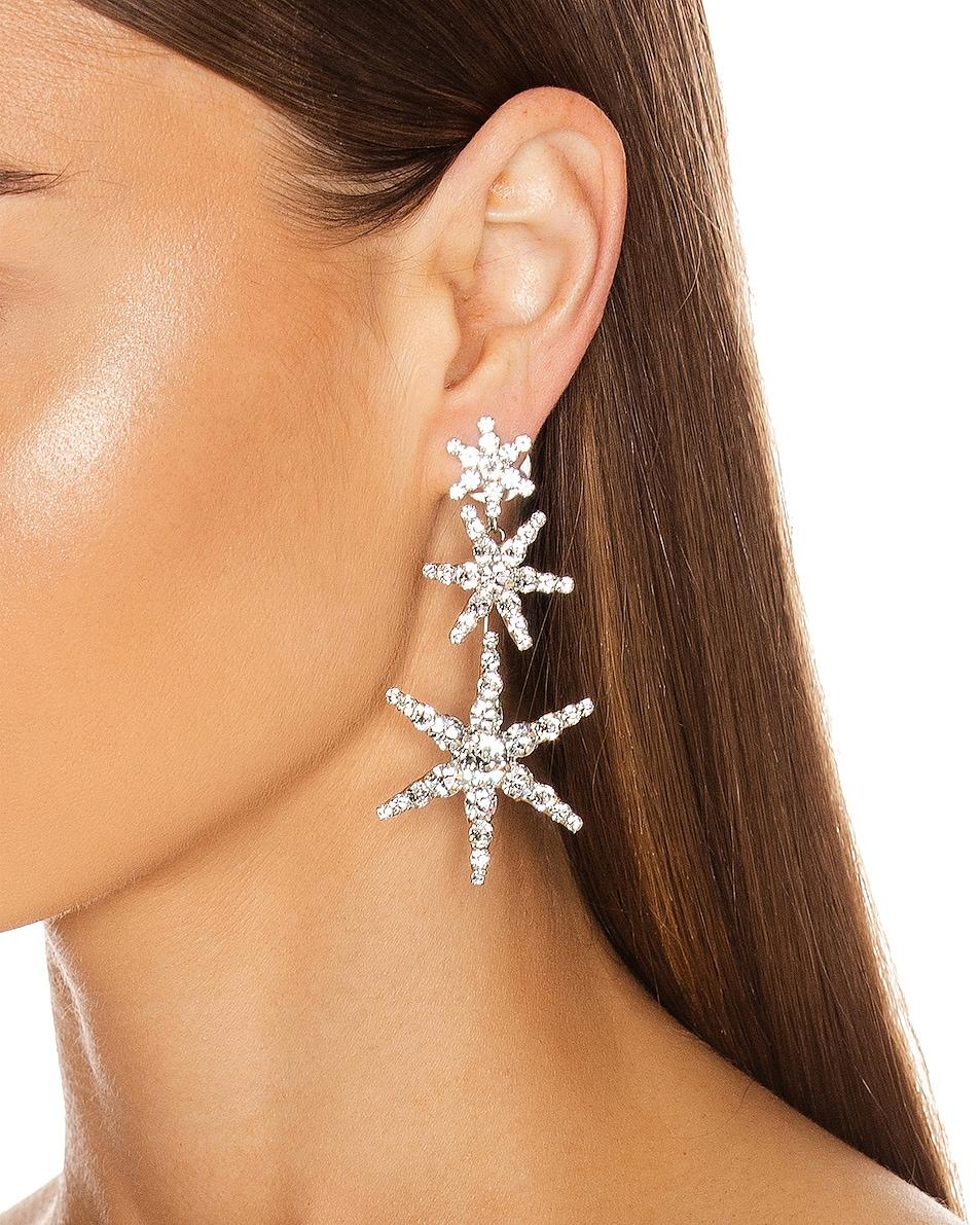 Image 2 of Jennifer Behr Aurelia Earrings in Crystal