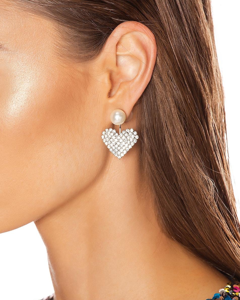 Image 2 of Jennifer Behr Valentine Earrings in Crystal