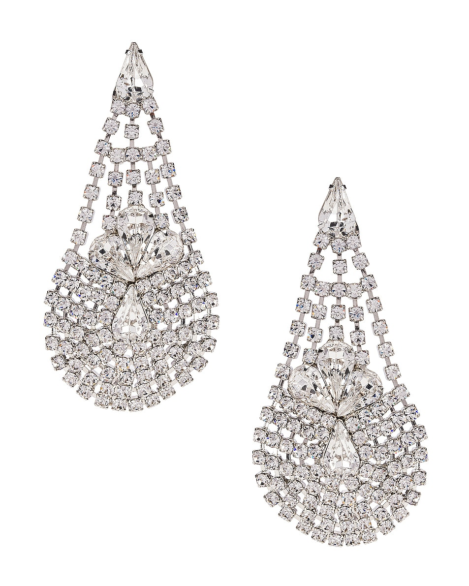 Image 1 of Jennifer Behr Giorgia Earrings in Crystal