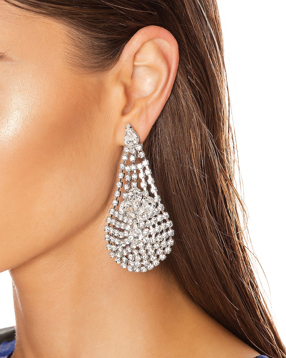 Image 2 of Jennifer Behr Giorgia Earrings in Crystal