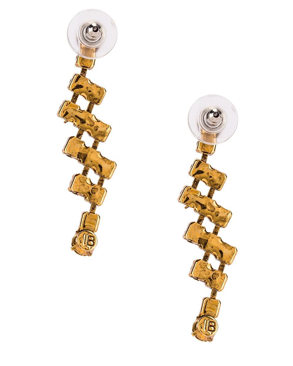 Image 4 of Jennifer Behr Rhea Earrings in Crystal Antique Gold