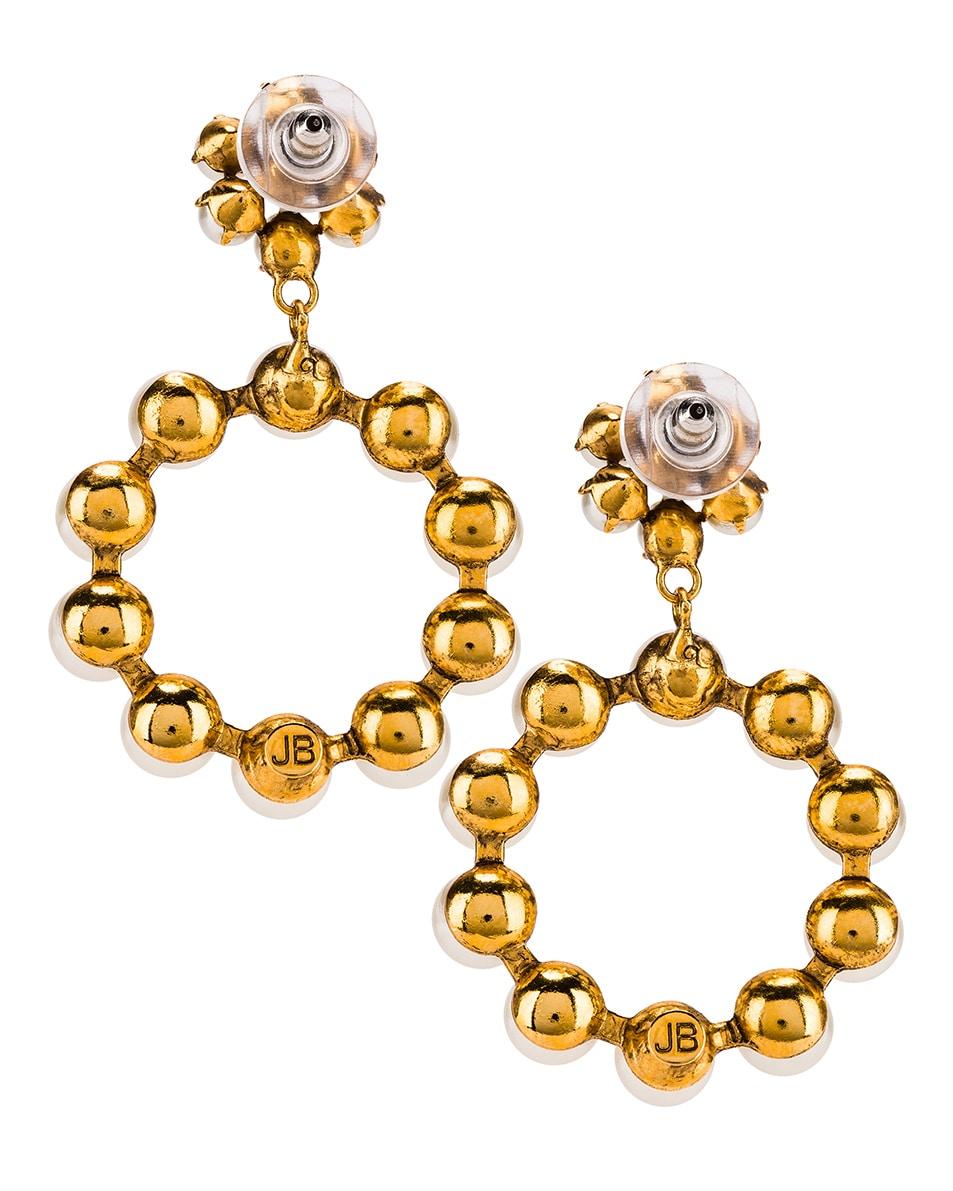 Image 4 of Jennifer Behr Leilani Earrings in Gold Pearl