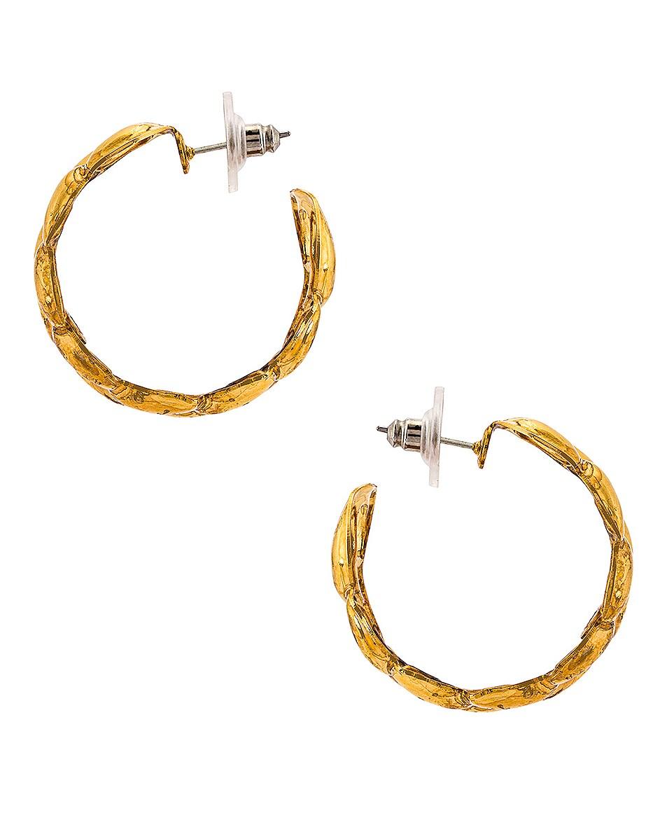 Image 3 of Jennifer Behr Tara Hoops Earrings in Gold