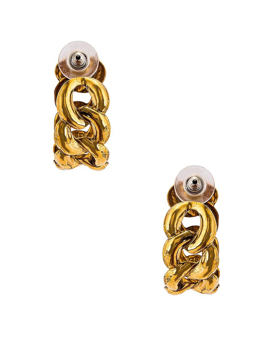 Image 4 of Jennifer Behr Tara Hoops Earrings in Gold