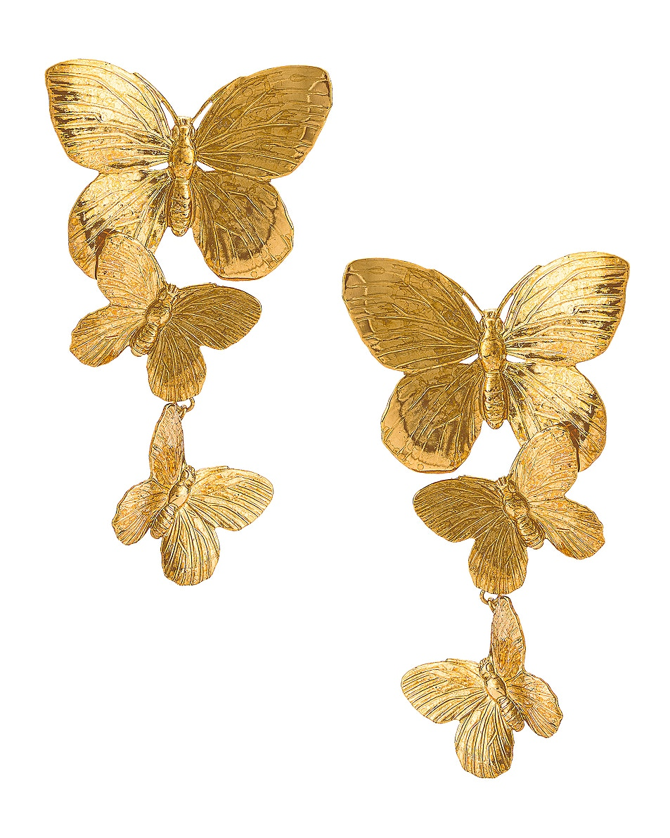 Image 1 of Jennifer Behr Alessandra Earrings in Gold