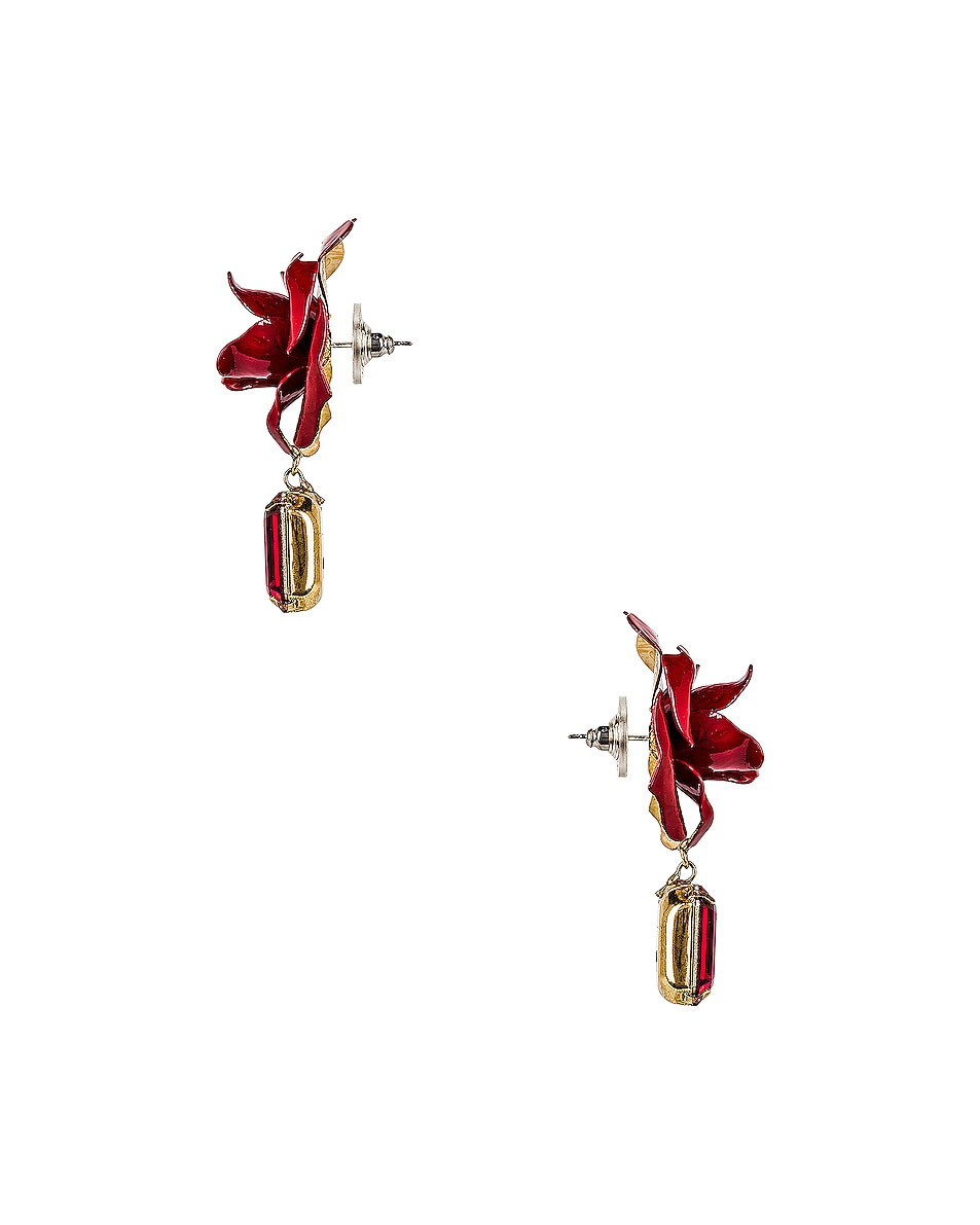 Image 3 of Jennifer Behr Cordelia Earrings in Crimson