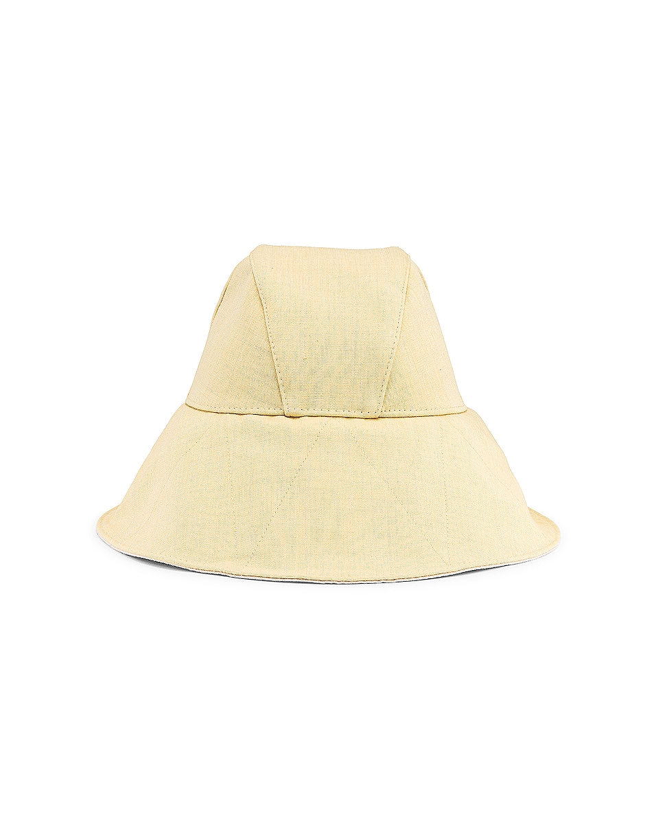 Image 1 of Jil Sander Canvas Hat in Light Pastel Yellow
