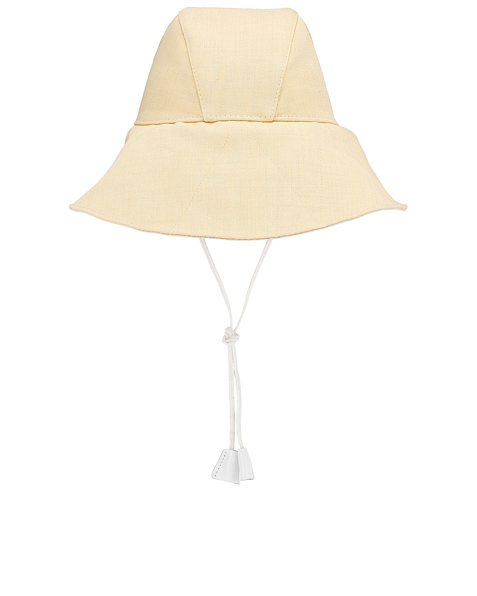 Image 2 of Jil Sander Canvas Hat in Light Pastel Yellow
