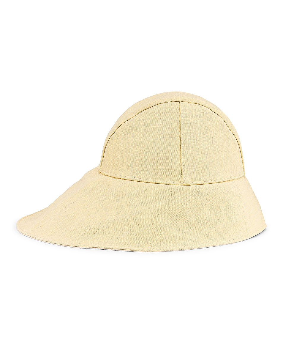 Image 3 of Jil Sander Canvas Hat in Light Pastel Yellow