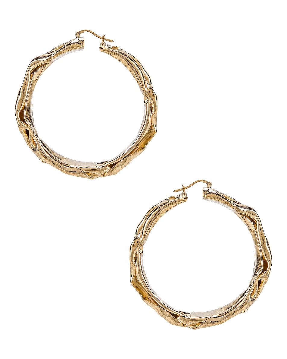 Image 1 of Jil Sander Flattened Earrings in Gold
