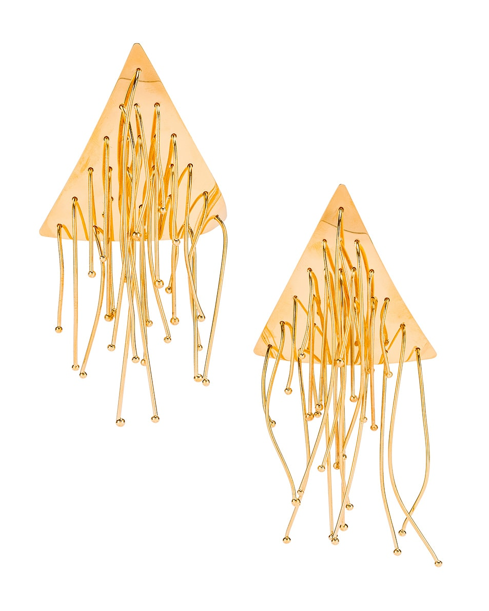 Image 1 of Jil Sander Multi Lines Earrings in Gold