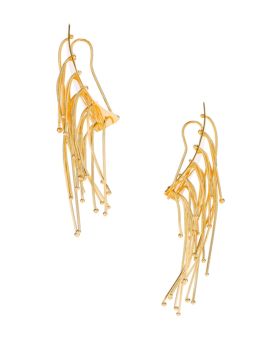 Image 3 of Jil Sander Multi Lines Earrings in Gold